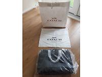Coach Hamilton men business briefcase bag - genuine black leather - brand new