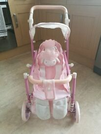 Baby Annabell Double Lamb Pram / Pushchair / Buggy - Zaps Creation