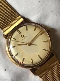 Vintage Omega 9ct solid gold 1960's