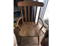 Pine dining chairs upcycle project