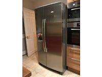 Whirlpoool AFridge Freezer in Silver sold with 6 months gtee