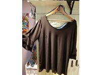 Ladies size 20 black tunic/top NEW