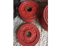 1kg x 4 Cast Iron plates