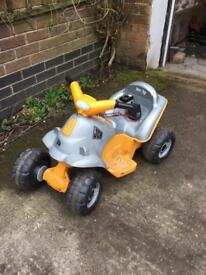 Smoby JCB electric ride along quad