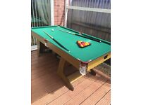 6ft foldaway Pool / table hardly used only selling as need the room