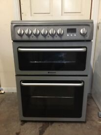 Hotpoint electric cooker DSC60S 60cm grey double oven 3 months warranty free local delivery!