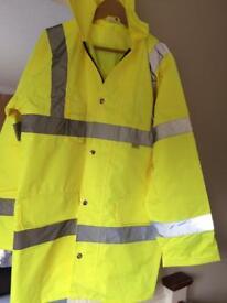 Hi Viz quilted coat in size large