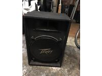 2 Peavey speakers including stands