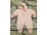 Mothercare Baby Girls Snowsuit Size 3-6 m