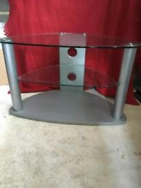 TV stand - glass and metal