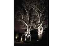 Garden lighting installer