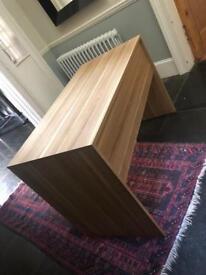 Oak veneer desk, table.