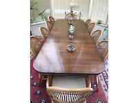 Reproduction Regency Style Extending Dining Table