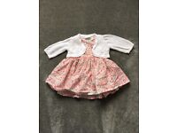 Twin Baby girl Next dresses. Immaculate condition. 0-3 and 3-6 months