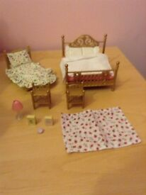 Sylvanian families luxury bedroom furniture bundle.
