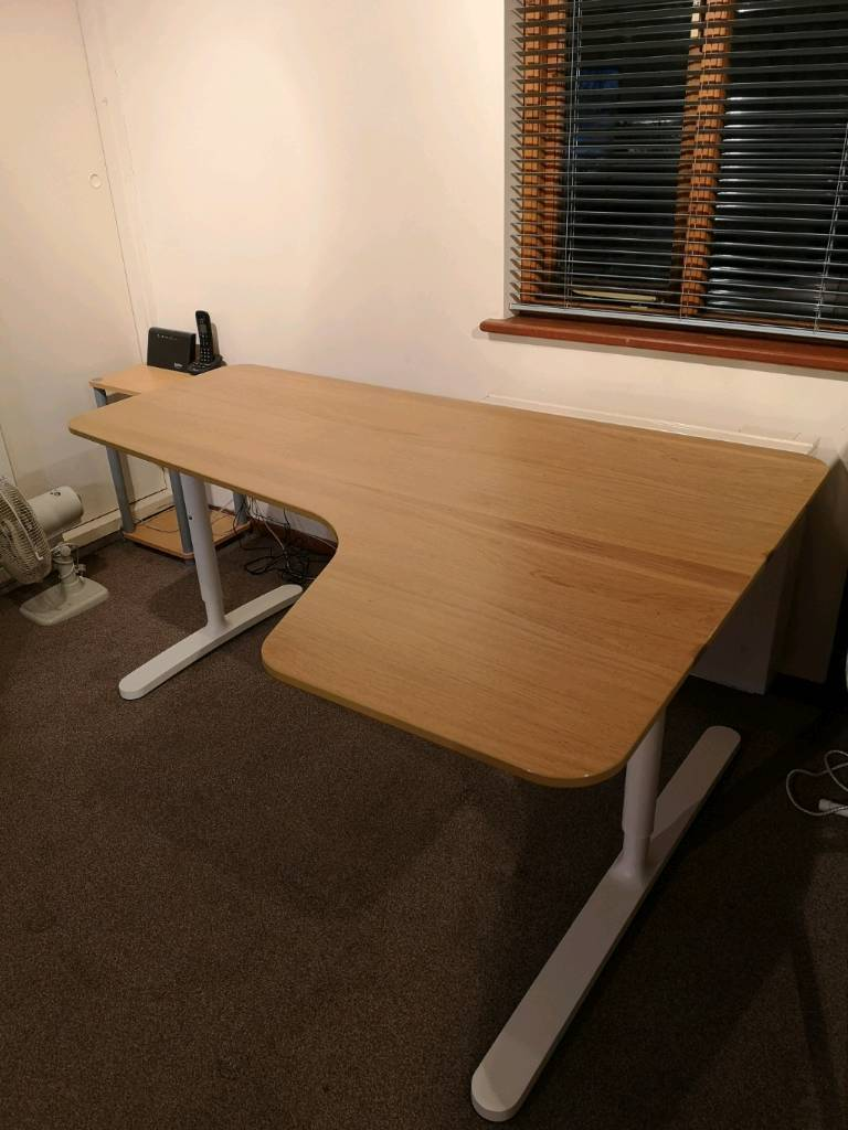 Curved Corner Desk Wood Work Desk