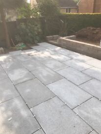 Garden patio and landscaping