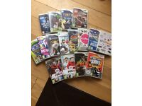 16 Wii games excellent condition great variety and price