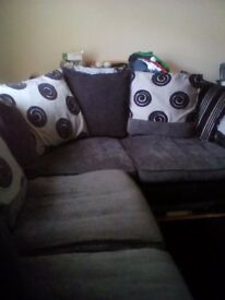 Large grey and black left hand corner dfs sofa for sale good condition