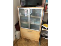 Ikea desk and storage/roller shutter cupboard