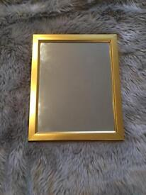 Lovely gold coloured mirror (small) £5