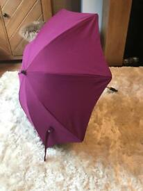 Purple stokke umbrella