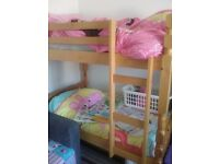3/4 bunkbeds solid pine