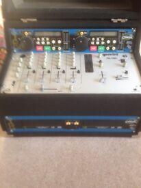 Gemini ps 700i mixer and gemini CD control panel and gemini citronic players