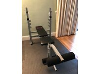 York B530 Heavy Duty Weights Bench, Very Good Condition