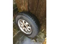 Wheel from a Ford Cortina Mk 3 fitted with a Lee Conquest tyre 165/80 R13