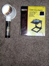 Light magnifier and folding magnifier