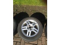 """Ford Focus 15"""" Alloy Wheel & almost new tyre"""
