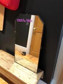 Heavy vintage mirror dressing table top decoration prop