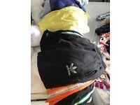 Clothes bundle designer swim shorts Hugo boss Lacoste shorts t shirt Adidas joggers