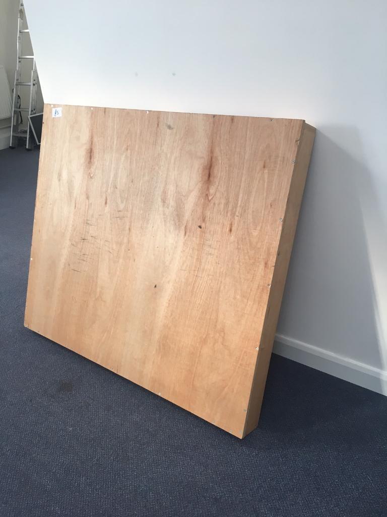 Small wooden stage plinth platform