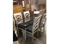 Dining table £99 chairs £80 each