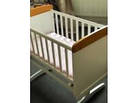 **NEVER BEEN USED** Obaby gliding crib with mattress