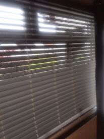 """brand new not our of box grey wood effect blinds, was £140 but ordered wrong size - 95"""" by 57"""""""