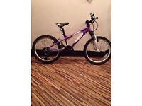 Girls purple Carrera Luna bike