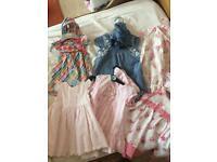 6 baby girl summer dresses 0-3 months