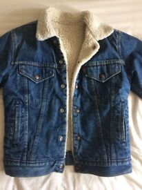 Levi's Fleece Lined Denim Jacket Small Women's