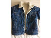 Levi's Fleece Lined Denim Jacket Small Women's