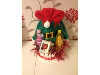 Hand made first christmas nappie cake hamper Gift
