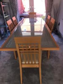 Calligaris Extending Dinning Room Table & 6 Chairs