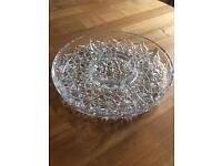 Crystal serving dish with dividers