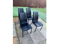Next Opus Faux Leather dining chairs