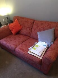 Two Sofas in excellent condition reversible cushions