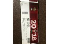 2 Six nations Wales v France tickets