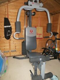 Multi Gym with integrated bench and leg press
