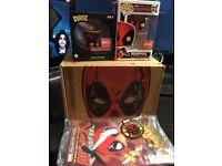 DEADPOOL Marvel Collectors Corp Box - Exclusive POP! Vinyl, Dorbs Vinyl, Badge, Patch & Comic